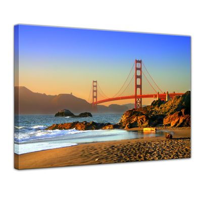 Leinwandbild - Golden Gate Bridge – Bild 1