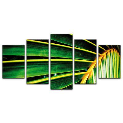Leinwandbild - Palmenblatt - Malediven – Bild 3