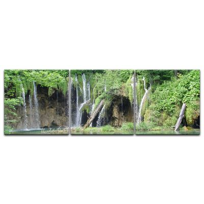 Leinwandbild - Einsamer Wasserfall – Bild 7