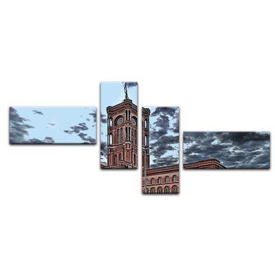 Leinwandbild - Rote Rathaus – Bild 8