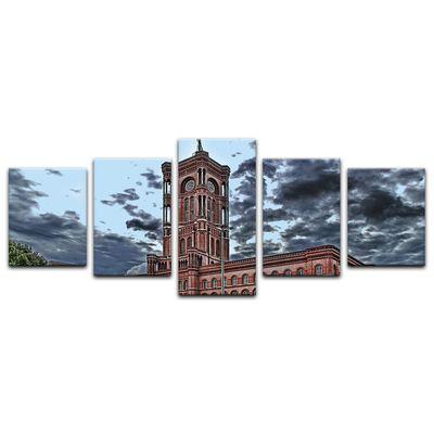 Leinwandbild - Rote Rathaus – Bild 10