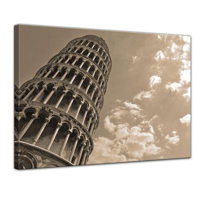 Leinwandbild - Schiefer Turm von Pisa – Bild 1