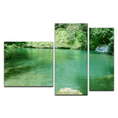 Leinwandbild - See im Dschungel – Bild 13