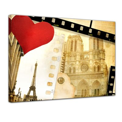 Leinwandbild - Paris in Love – Bild 1