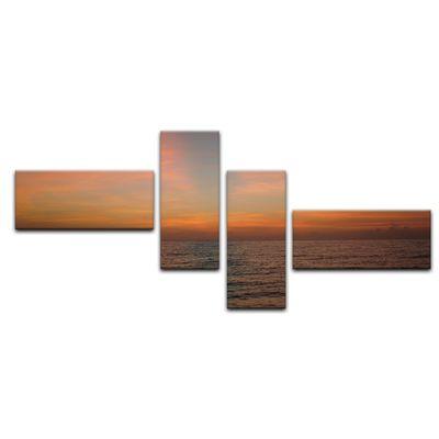 Leinwandbild - Sonnenuntergang am Meer – Bild 14