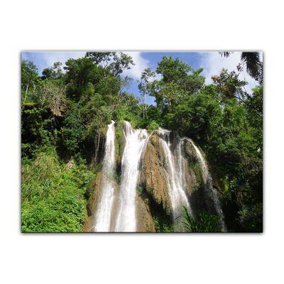 Leinwandbild - Wasserfall im Dschungel – Bild 5
