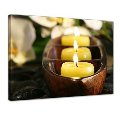 Leinwandbild - Wellness Kerzen – Bild 1