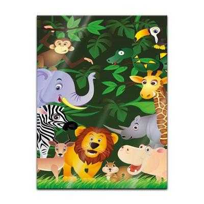 Glasbild - Kinderbild - Lustige Tiere im Dschungel - Cartoon – Bild 2