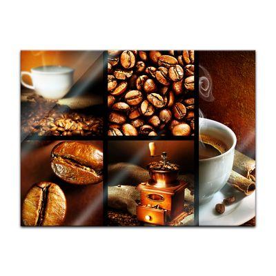 Glasbild - Kaffee Collage II – Bild 2