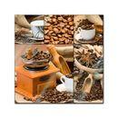 Glasbild - Kaffee Collage I