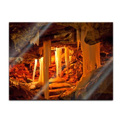 Glasbild - Grotte in Kungur Ice Cave - Russland – Bild 3