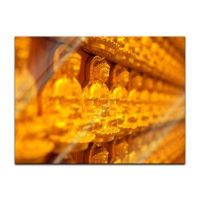 Glasbild - Goldener Buddha – Bild 2