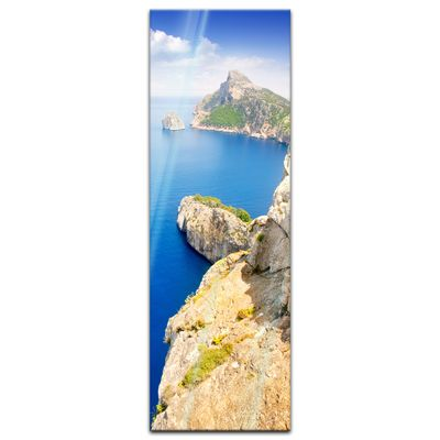 Glasbild - Formentor cape to Pollensa aerial sea view in Mallorca - Spanien – Bild 4