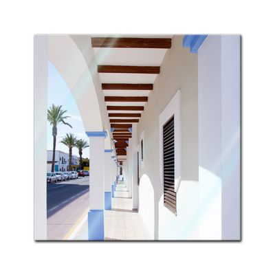 Glasbild - Formentera island Lá Savina - Spanien 20x20 cm