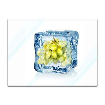 Glasbild - Eiswürfel Weintrauben – Bild 2