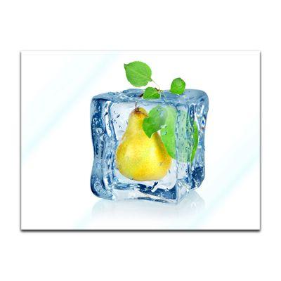 Glasbild - Eiswürfel Birne – Bild 2