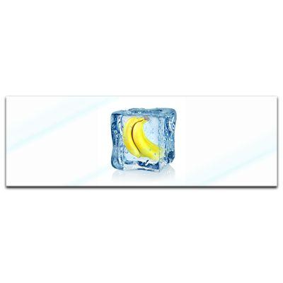 Glasbild - Eiswürfel Banane – Bild 4