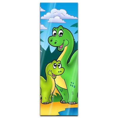 Glasbild - Dino Kinderbild - Familie – Bild 4