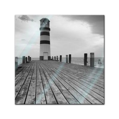 Glasbild - Leuchtturm – Bild 1