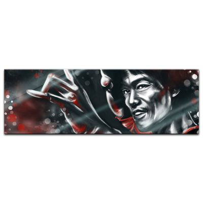 Glasbild - Bruce Lee in rot – Bild 4
