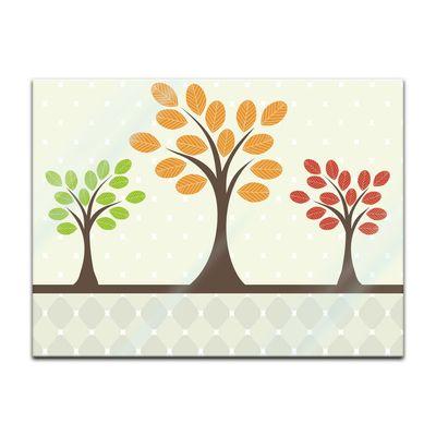 Glasbild - Baum Retro – Bild 3