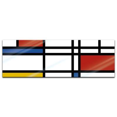Glasbild - Abstrakte Geometrie bunt – Bild 4