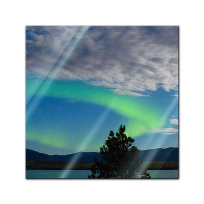 Glasbild - Nordlichter in Yukon - Kanada – Bild 1