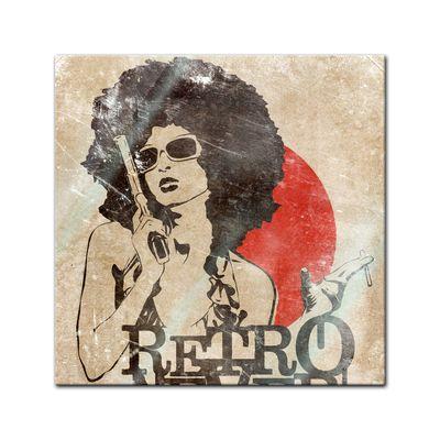 Glasbild - Retro Never Dies