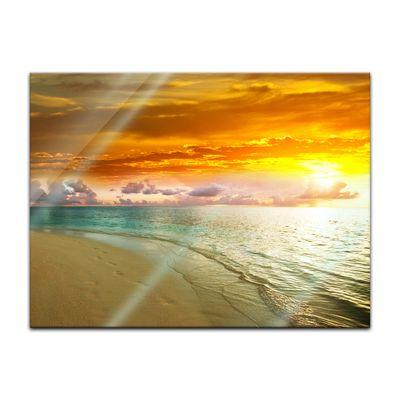 Glasbild - Strand Sonnenuntergang II – Bild 2