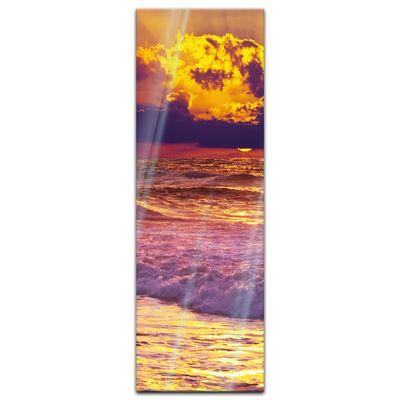 Glasbild - Strand Sonnenuntergang III – Bild 4