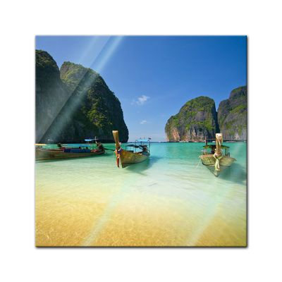 Glasbild - Tropical Beach - Tropischer Strand