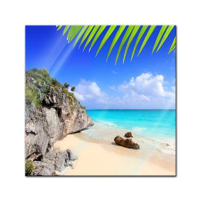 Glasbild - Tulum Mexiko - Karibik