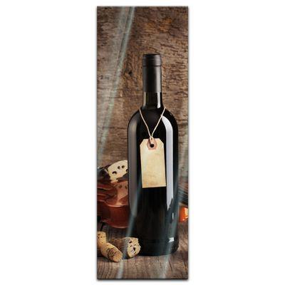 Glasbild - Wein und Violine – Bild 4