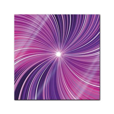 Glasbild - Abstrakte Kunst - lila