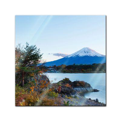 Glasbild - Fuji Kawaguchiko See