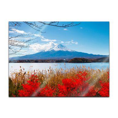 Glasbild - Fuji im Herbst – Bild 3