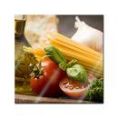 Glasbild - Italienische Pasta IV 001