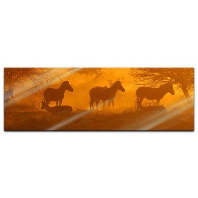Glasbild - Kenia am Morgen – Bild 4