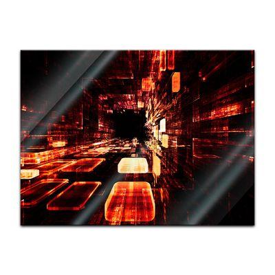 Glasbild - Abstrakte Kunst LII – Bild 2