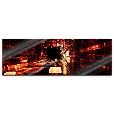 Glasbild - Abstrakte Kunst LII – Bild 3