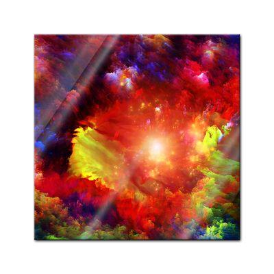 Glasbild - Abstrakte Kunst LIV – Bild 1
