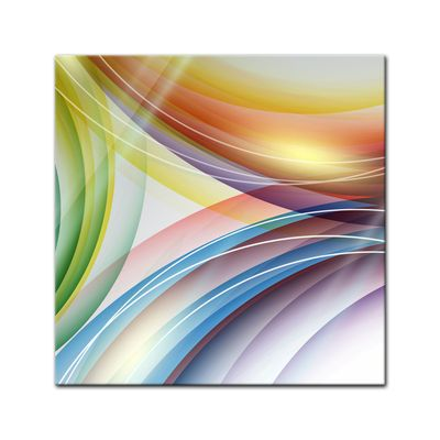Glasbild - Abstrakte Kunst LV – Bild 1