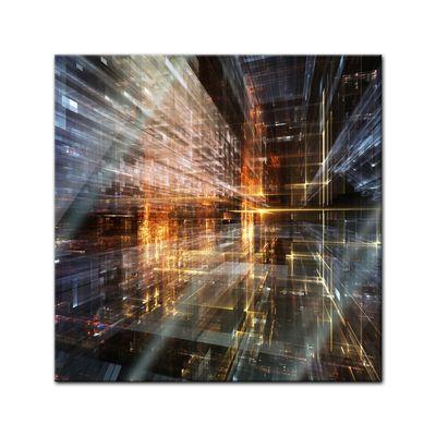 Glasbild - Abstrakte Kunst LVI – Bild 1