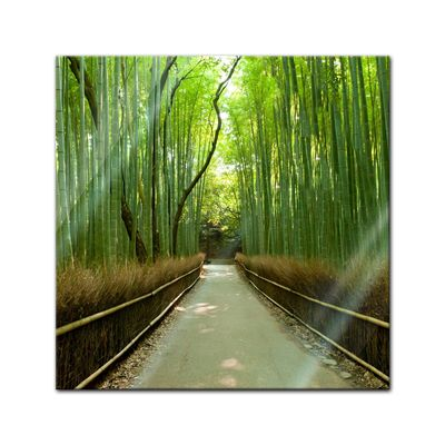 Glasbild - Bambuswald in Arashiyama - Japan – Bild 1