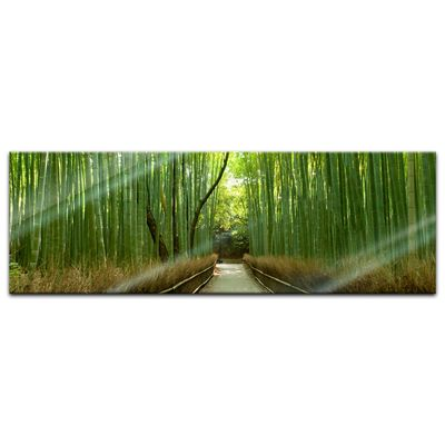 Glasbild - Bambuswald in Arashiyama - Japan – Bild 3
