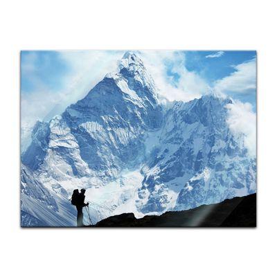 Glasbild - Klettern im Himalaya – Bild 2