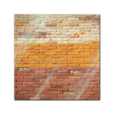 Glasbild - Steinmauer VII – Bild 1
