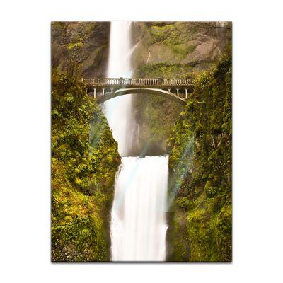 Glasbild - Multnomah Falls in Oregon - USA – Bild 2