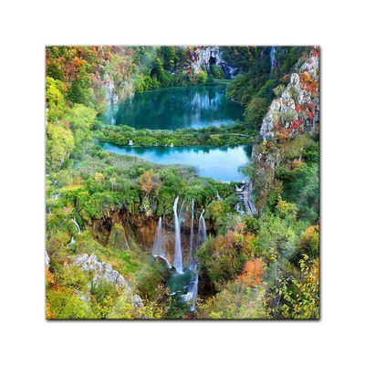 Glasbild - Plitvicer Seen II - Kroatien – Bild 1