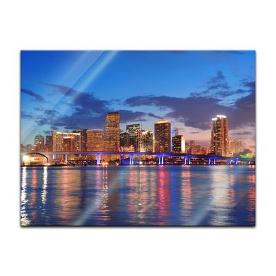 Glasbild - Miami Night Scene - USA – Bild 2